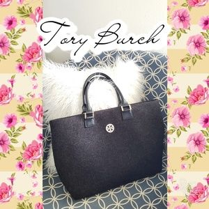 🔥 Stunning! Tory Burch work tote bag purse laptop